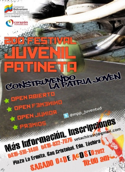 2do festival juvenil de patineta